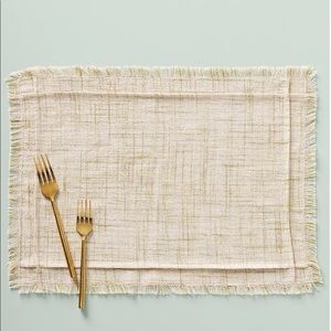 New Anthropologie Pink Placemat & Napkin